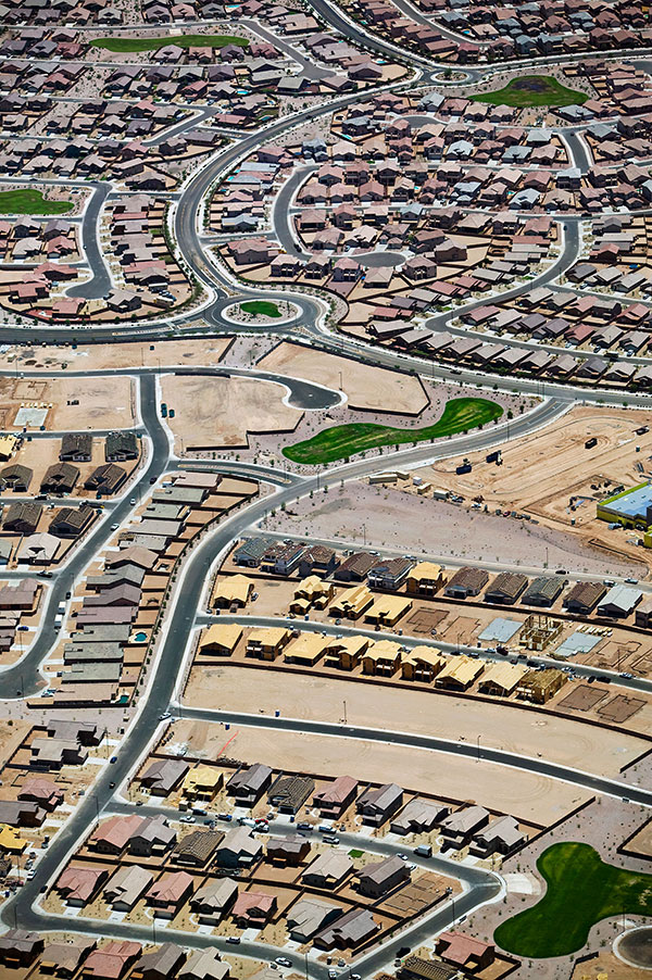 housing project aerial view
